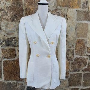 Giorgio Armani 8 Linen Flax Double Breasted Jacket
